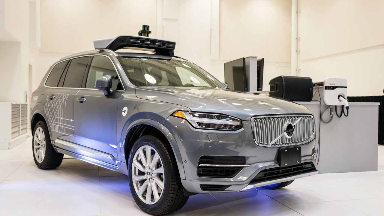 (FILES) This file photo taken on September 13, 2016 shows a pilot model of the Uber self-driving car is displayed at the Uber Advanced Technologies Center in Pittsburgh, Pennsylvania. Uber announced December 14, 2016 that it would extend its testing of autonomous vehicles to San Francisco, the second city in its ambitious autonomous ride-sharing project. The move comes three months after Uber began testing self-driving cars to move people in Pittsburgh, Pennsylvania, with four vehicles -- along with a driver and technician onboard to deal with any glitches or emergencies. Angelo Merendino / AFP