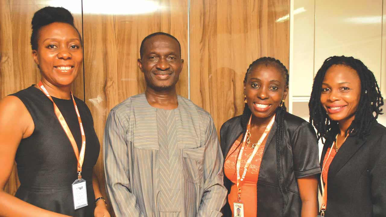 Managing Director Aframero Limited, Yetunde Oghomienor (left); Bank of Industry State Officer, Lagos. Emmanuel Egbuta; Sales and Marketing Manager, Ireti Kadaolu and Operations Manager, Blessing Okorafor during the Aframero Customers' forum in Lagos at the weekend 										PHOTO: AYODELE ADENIRAN