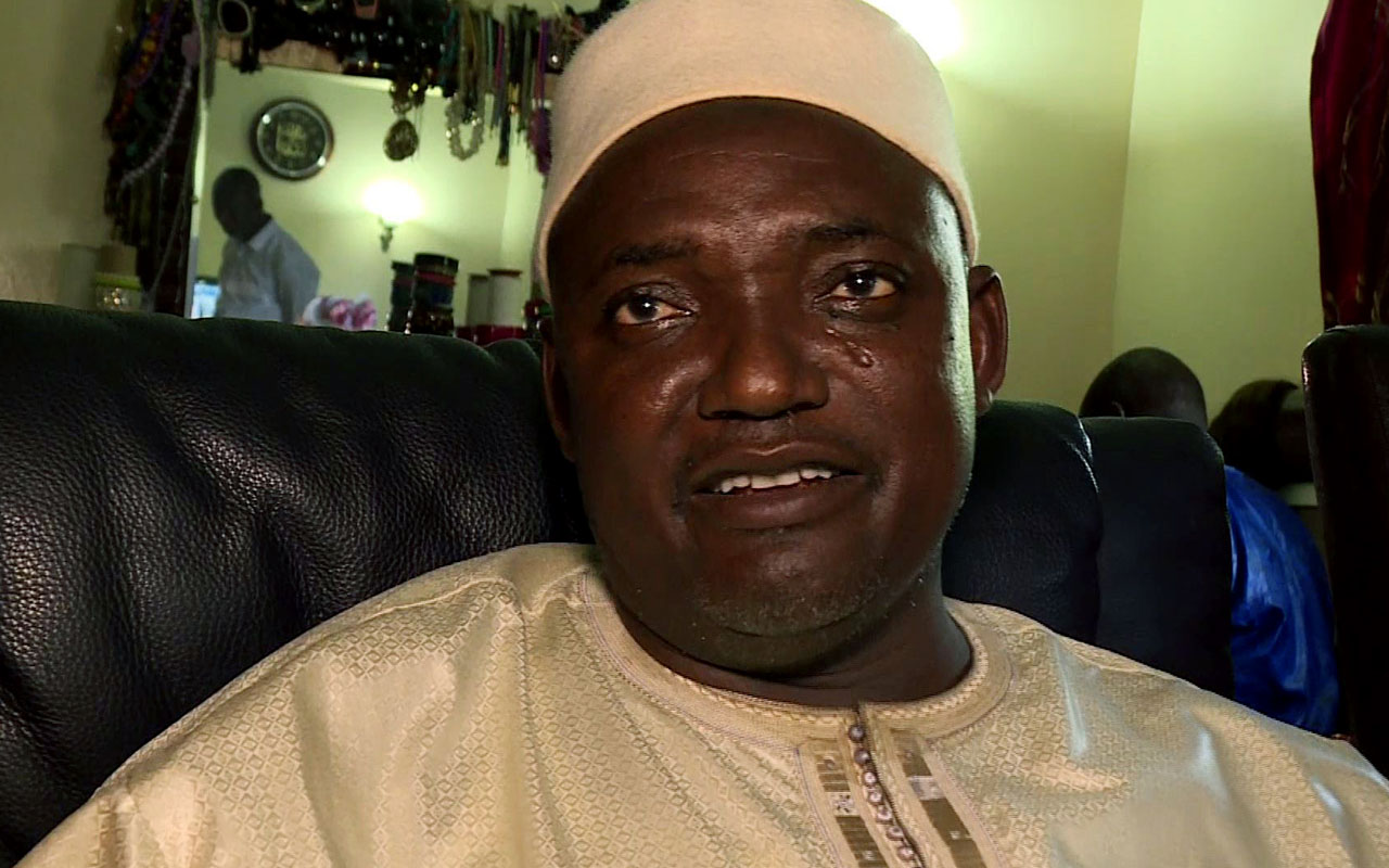 Gambia's President Adama Barrow / AFP PHOTO / AFPTV / Joe Sinclair