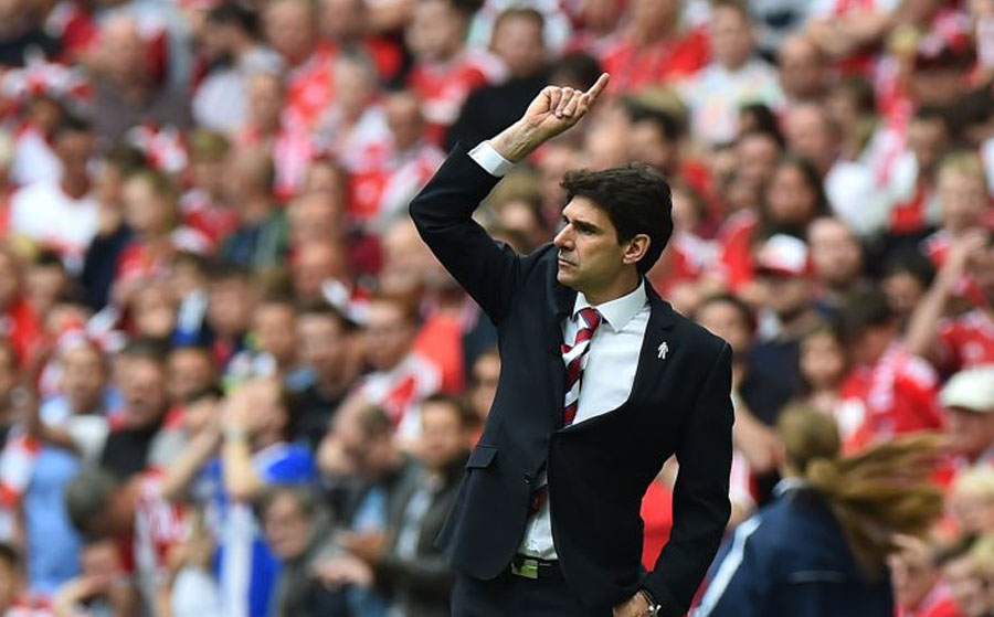 Middlesbrough's Spanish manager Aitor Karanka /AFP PHOTO / BEN STANSALL
