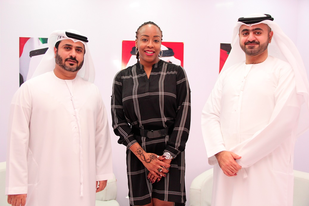 Representative of Dubai Immigrations, Omran Alali (left), Regional Director, Africa for Dubai Tourism, Stella Obinwa and Manager, Exhibition, Dubai Tourism, Talal Alsuwaidi at the Akwaaba Africa Travel Market in Lagos.