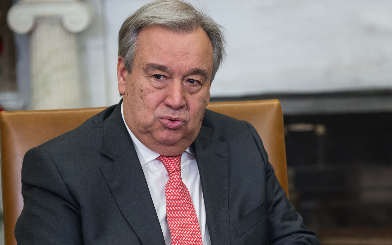 United Nations Secretary-General Antonio Guterres/ AFP PHOTO / NICHOLAS KAMM