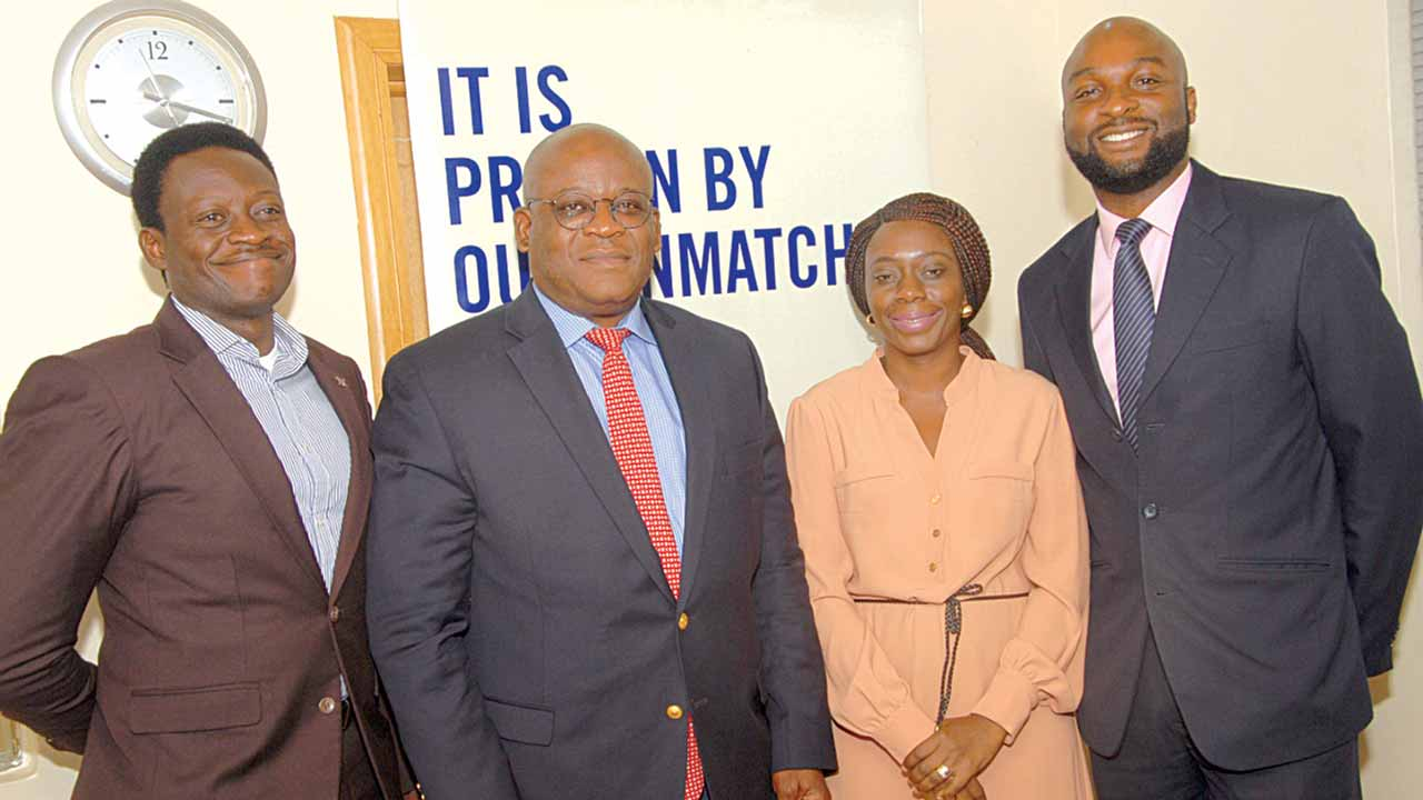 Manager Business Development at Bristow Helicopters (Nigeria) Limited, Mayowa Babatunde (left); Managing Director, Captain Akin Oni; Human Resource Manager, Tolu Olufunwa; and Senior Legal Director, Tolu Olubajo at the media engagement on Bristow's operations in Nigeria
