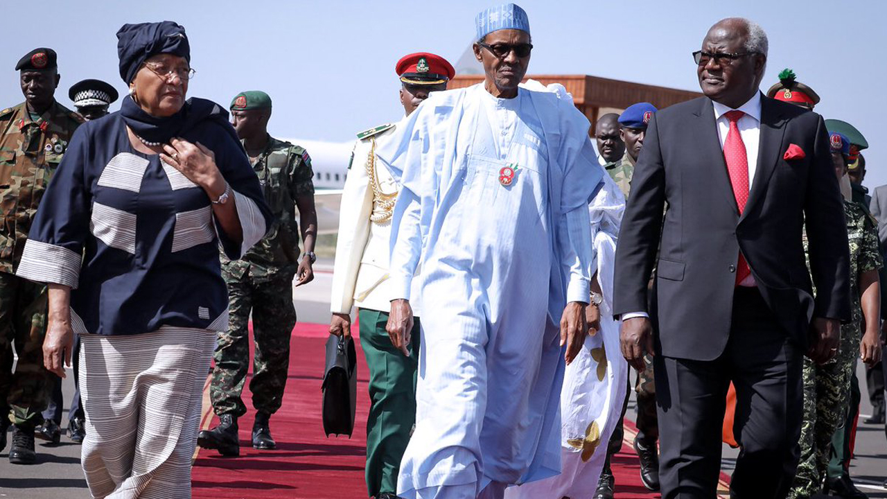 Nigeria's Muhammadu Buhari is in The Gambia with other ECOWAS leaders to insist on the sanctity of the electoral process, and respect for the wishes of the people. PHOTO: TWITTER/ MUHAMMADU BUHARI