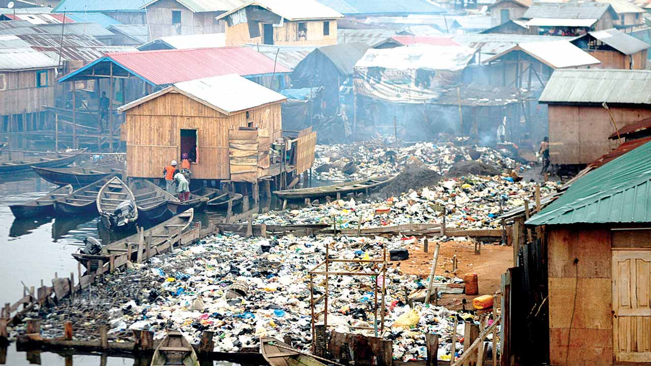 Environmental pollution in Makoko, Lagos 													               PHOTO: www.google.com