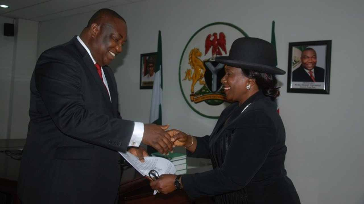 Governor Ifeanyi Ugwuanyi and Justice Ngozi Emehelu