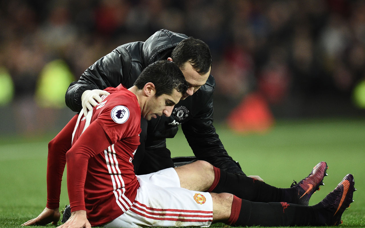 Manchester United's Armenian midfielder Henrikh Mkhitaryan / AFP PHOTO / OLI SCARFF /