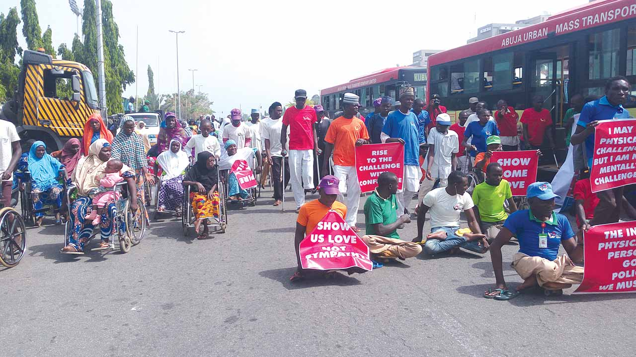 UN Disability Day: Hollywood stars, Naija artists, others march for the disabled in Abuja, yesterday