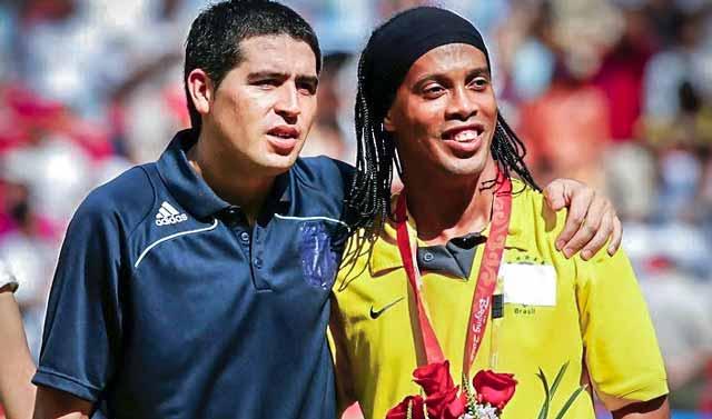 Juan Roman Riquelme and Ronaldinho