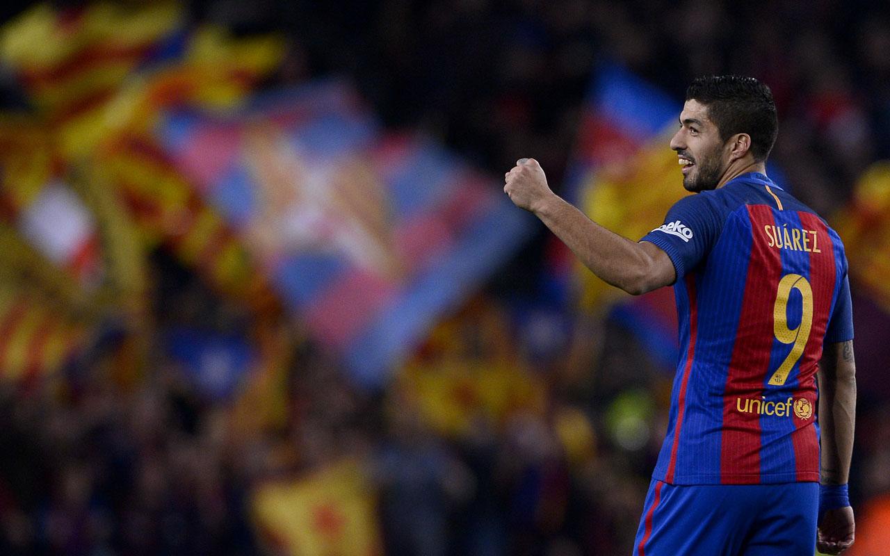 Barcelona's Uruguayan forward Luis Suarez / AFP PHOTO / JOSEP LAGO