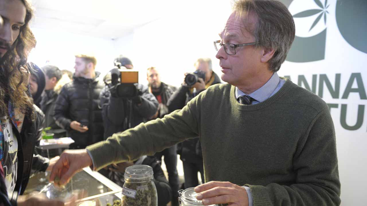 "Marc Emery, Canada's self-proclaimed ""Prince of Pot,"" and founder of the Cannabis Culture dispensary chain,is seen in his illegal recreational cannabis storefront in Montreal, Quebec on December 15, 2016. Eight storefronts selling recreational marijuana opened in Montreal on December 15, 2016 in a push to grab market share in cities across Canada -- without waiting for promised legalization next year.Two more are planned for later this month in the nation's second biggest metropolis, despite a vow by Mayor Denis Coderre to use ""all of the city's administrative tools to stop the illegal activity.""The new franchise stores supplied by activist Marc Emery, Canada's self-proclaimed ""Prince of Pot,"" come after grand openings of stores in Vancouver, Toronto and a dozen other Canadian cities. Julien BESSET / AFP"