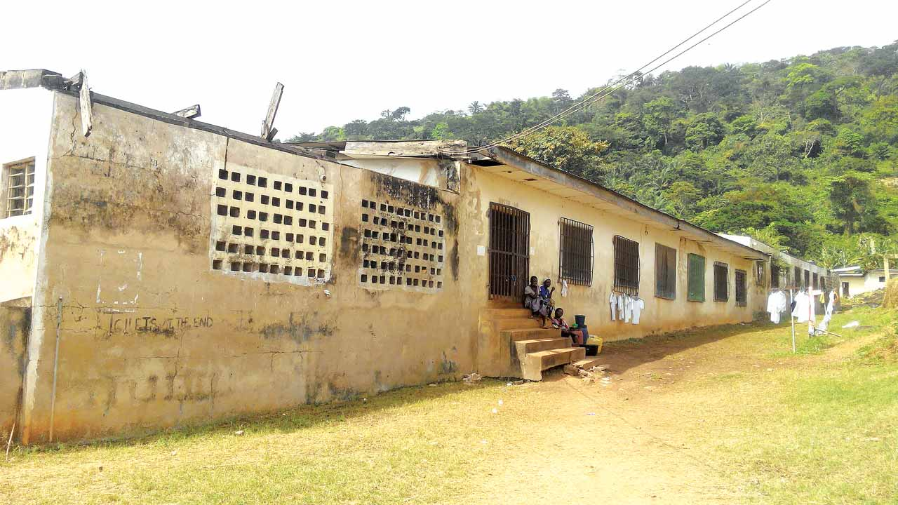 Dilapidated section of a hostel at NYSC Camp in Awgu, Enugu 					      PHOTOS LAW NJOKU