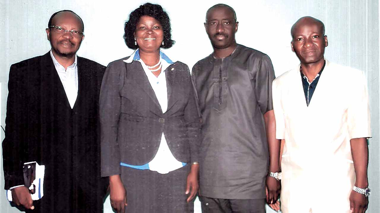 Director Clearline International Limited and member Health Managed Care Association of Nigeria (HMCAN), Dr. Funsho Ani (left); Executive Secretary, HMCAN, Bar. Ngozi Nduka-Uba; Zonal Coordinator National Health Insurance Scheme (NHIS), Mr. Adelaja Abereoran; Medical Director of LAD Medical Centre, Ibadan, Oyo State, Dr. Olajide Oladipupo at the HMCAN-Sponsored Stakeholders' Forum held yesterday in Ibadan