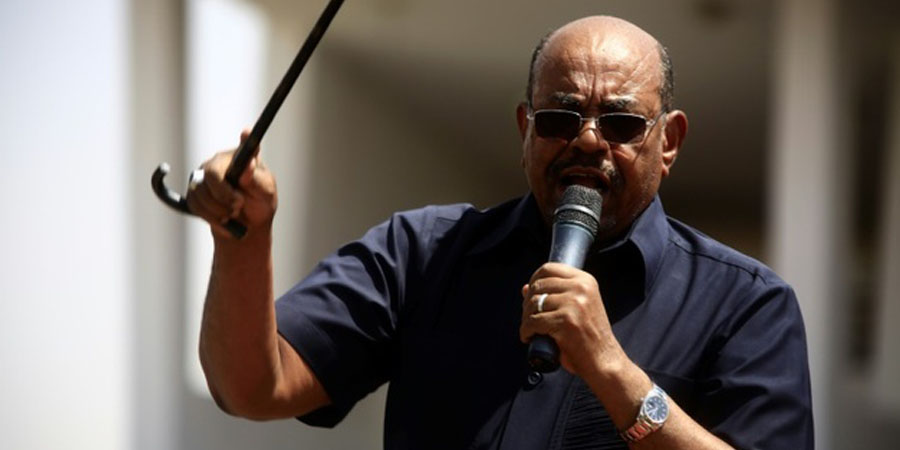 Sudanese President Omar al-Bashir vowed to crush any new anti-regime protests as the authorities did three years ago / Ashraf Shazly (AFP/File)