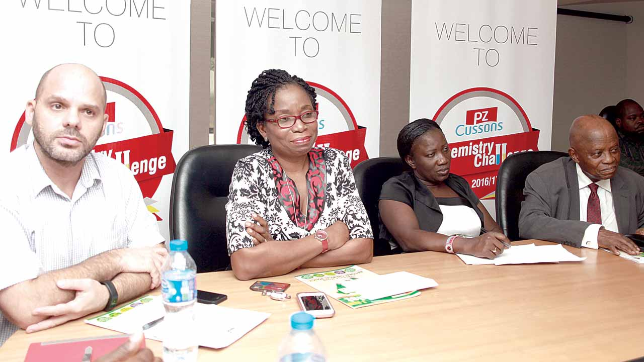Director, PZ Cussons Consumer, Christos Gouras (left); Executive Director, Corporate Affairs, Yomi Ifaturoti; Head Competition Unit, Science and Technology Department, Lagos State Ministry of Education, Olubukola Obafemi and Chairman, Advisory Board PZ Cussons Chemistry Challenge, Prof. Oladele Osibanjo at the stakeholders parley for the 2016/2017 Challenge in Lagos.