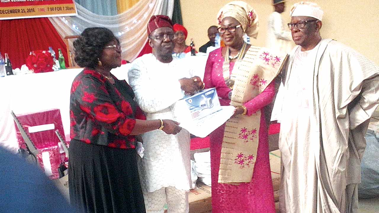 Dr. (Mrs.) Femi Taiwo (left); Prof. David Oke; Mrs. Olaitan Ojuroye, Founder and Chief Michael Ade-Ojo at the event