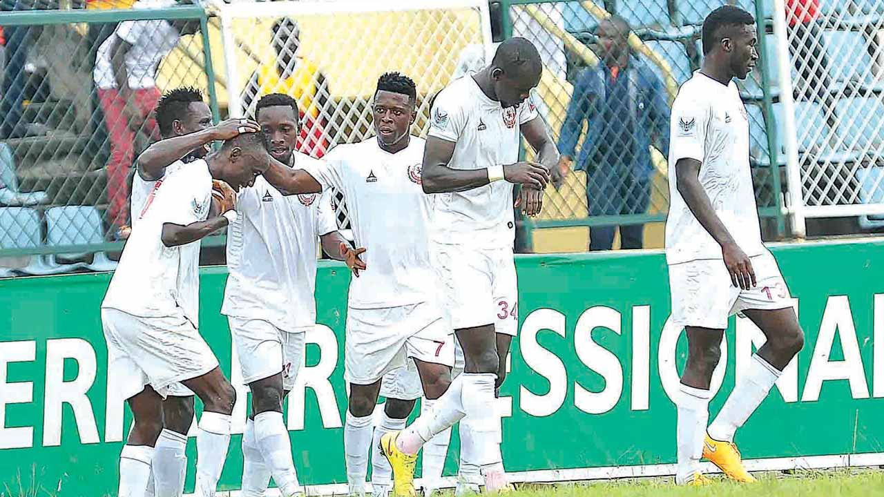 Enugu Rangers players celebrating a goal against Ikorodu United on their way to winning the 2015/2016 NPFL title. PHOTO: LMC.