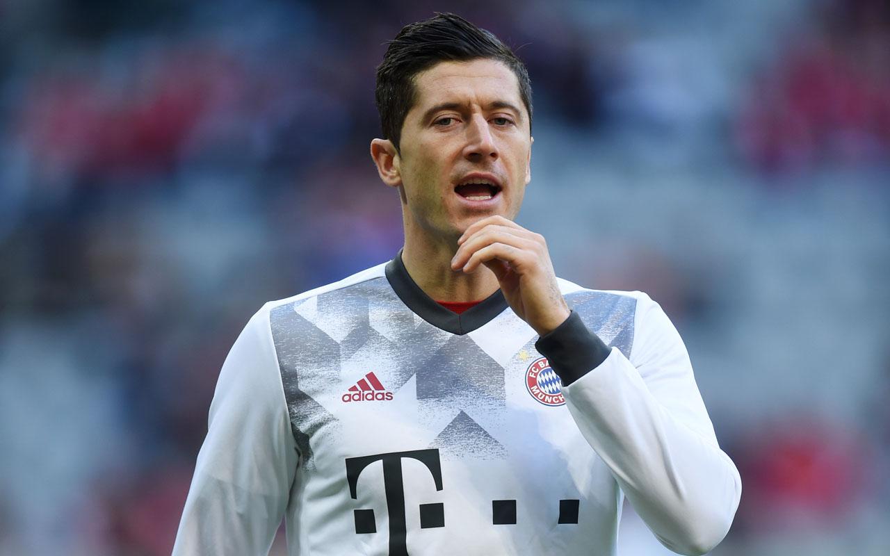 Bayern Munich's Polish striker Robert Lewandowski .  / AFP PHOTO / CHRISTOF STACHE /