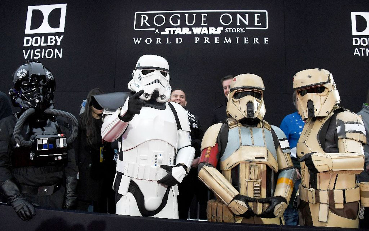 """Rogue One: A Star Wars Story"" has already notched up the highest first day pre-sales ever in the United States following last year's record-breaking ""The Force Awakens"" (AFP Photo/Frazer Harrison)"