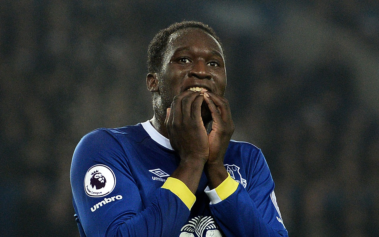 Everton's Belgian striker Romelu Lukaku  / AFP PHOTO / Oli SCARFF /