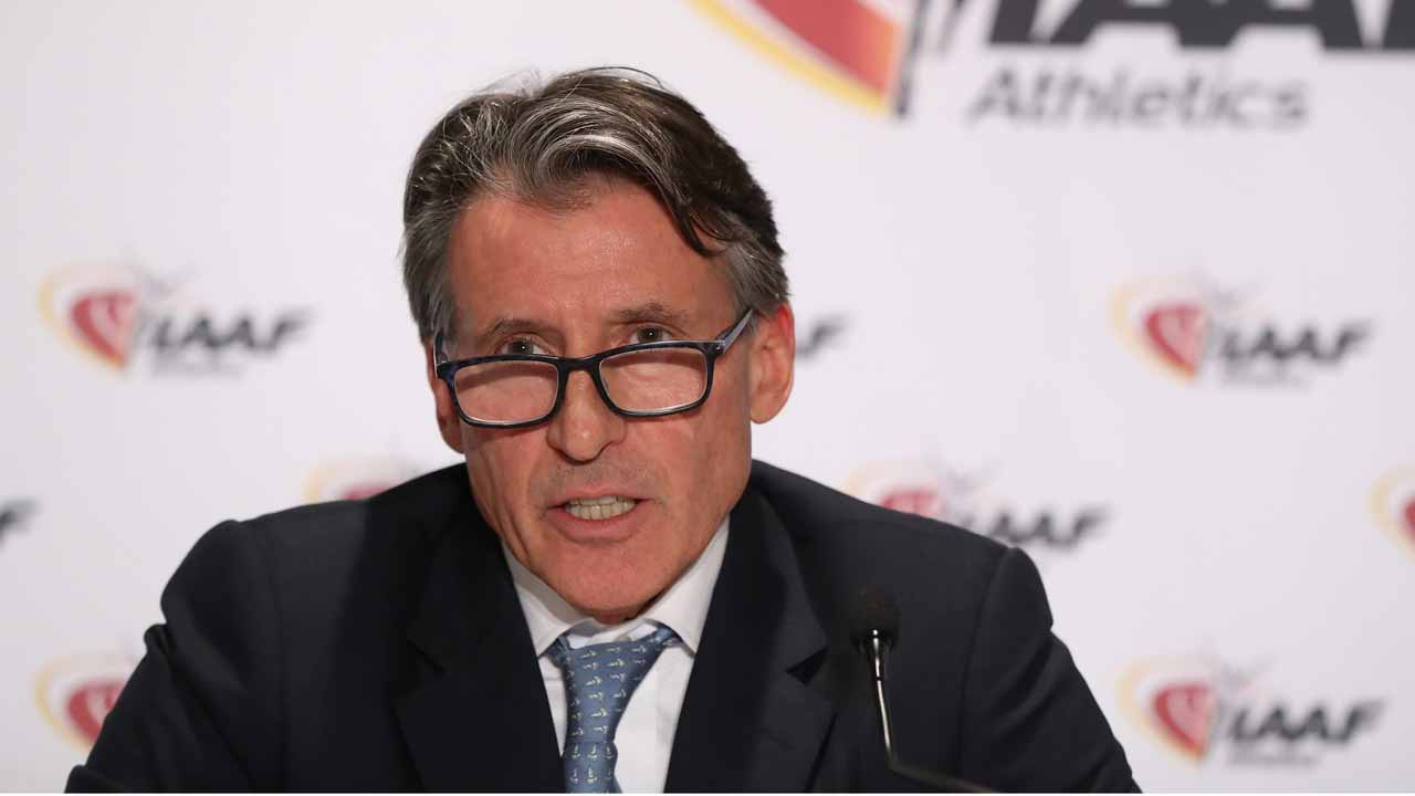 International Association of Athletics Federations (IAAF) President Sebastian Coe addresses a press conference following a two-day IAAF council meeting on December 1, 2016 in Monaco. Russia remains suspended from international athletics competition after the IAAF voted on December 1 to extend the ban on the country for state-sponsored doping. The IAAF Council, voting under the presidency of Sebastian Coe, was unanimous in its decision to uphold the suspension despite Russian President Vladimir Putin having recently approved a law criminalising doping in sports. VALERY HACHE / AFP