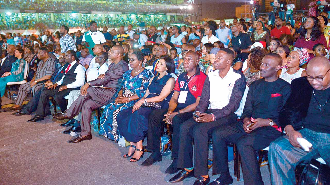 A cross section of dignitaries including  Lady Alex-Ibru, Sam  Adeyemi, Ituah Ighodalo, Mike Okonkwo and others