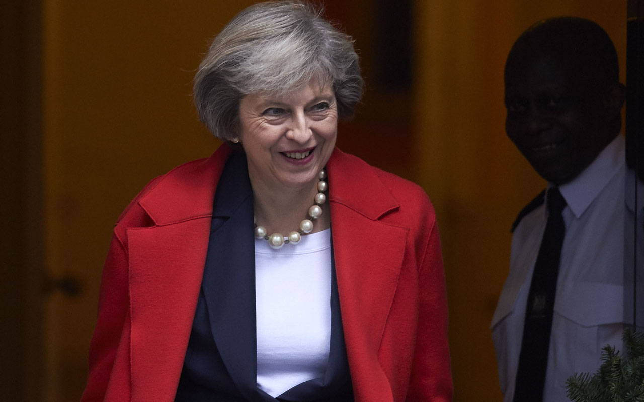 British Prime Minister Theresa May . / AFP PHOTO / NIKLAS HALLE'N