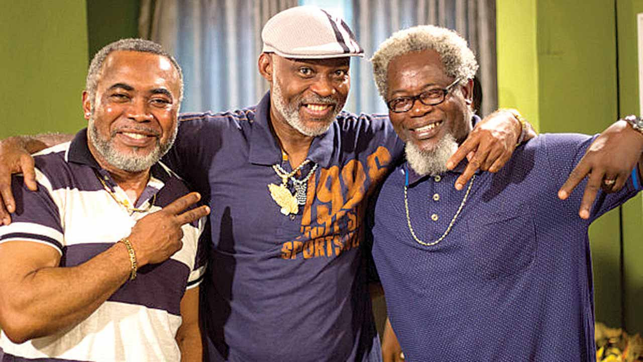 Zack Orji, Richard Mofe-Damijo and Victor Olatoan