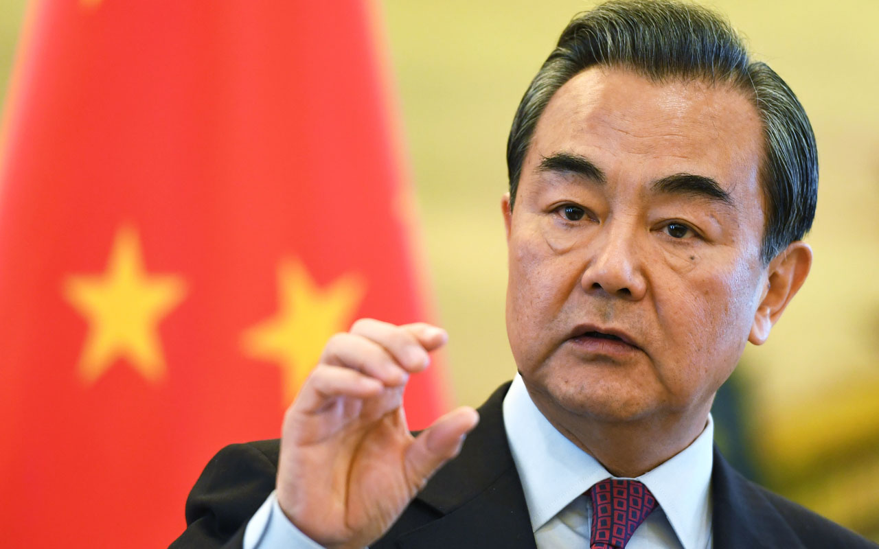 China's Foreign Minister Wang Yi  / AFP PHOTO / POOL / Greg Baker