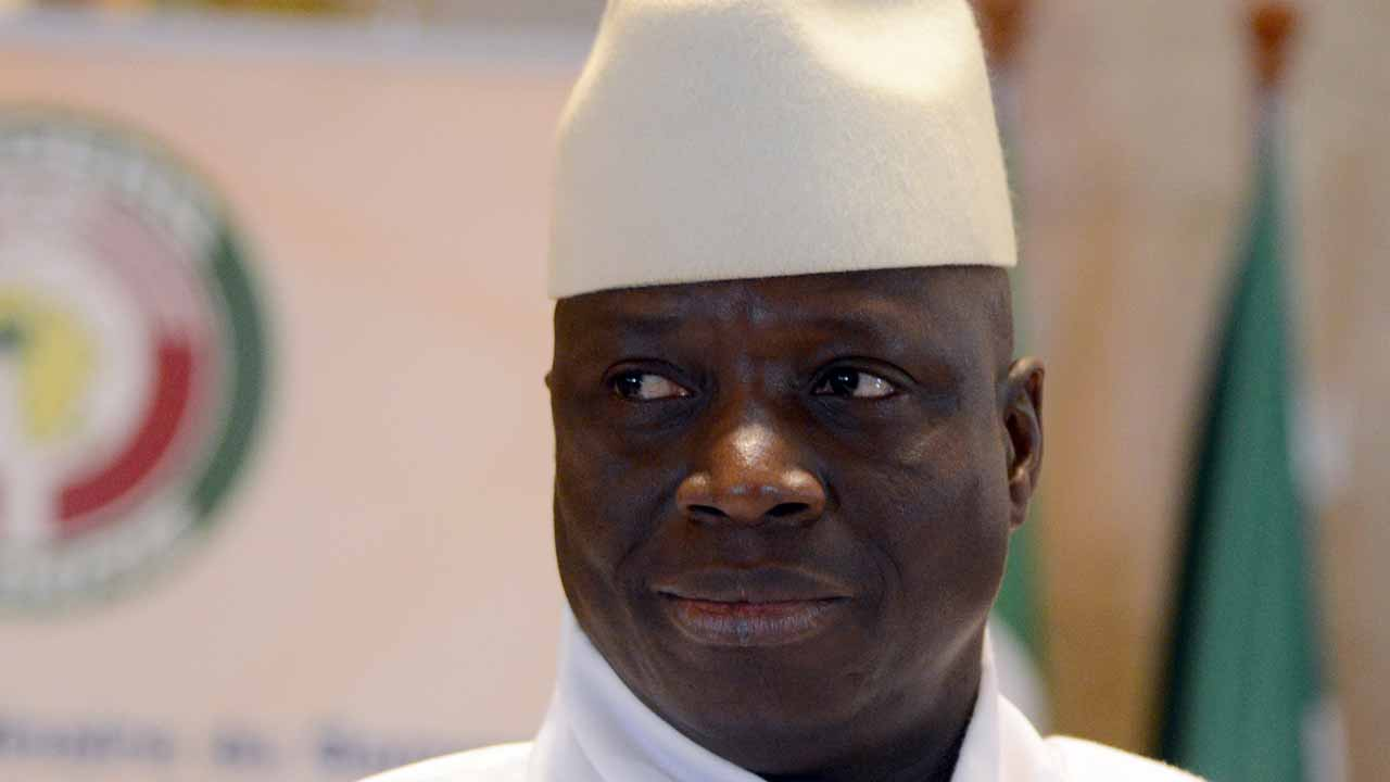 "(FILES) This file photo taken on March 28, 2014 shows President Yahya Jammeh of Gambia attending the 44th summit of the 15-nation west African bloc ECOWAS at the Felix Houphouet-Boigny Foundation in Yamoussoukro. Gambian President Yahya Jammeh insisted on December 21, 2016 he would not leave office in January despite his defeat in an election this month, and called for a new vote. ""Unless the court decides the case, there will be no inauguration (of president-elect Adama Barrow) on the 19 January,"" said Jammeh, whose party has lodged a complaint with the Supreme Court to overturn the December 1 vote result. ISSOUF SANOGO / AFP"