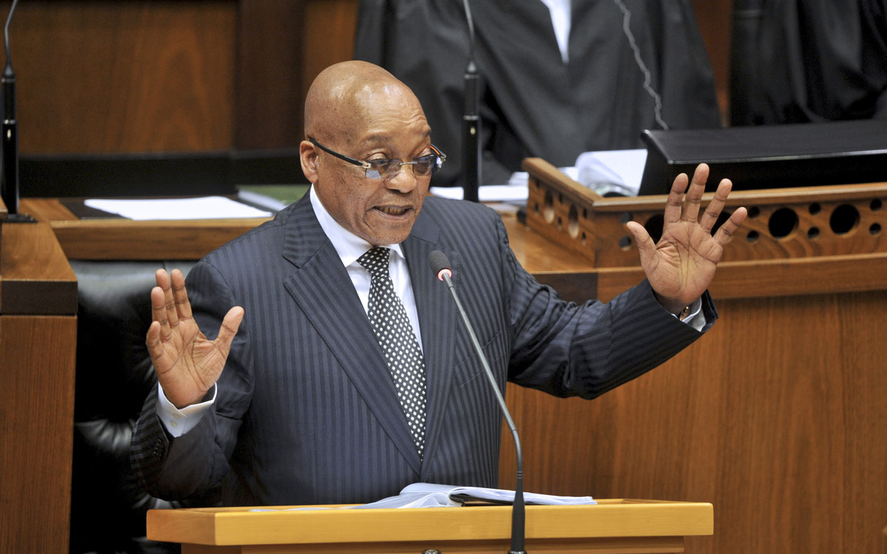 South African President, Jacob Zuma / AFP PHOTO / RODGER BOSCH