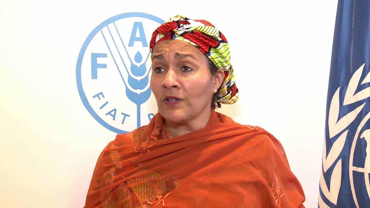 Minister of Environment, Amina Mohammed