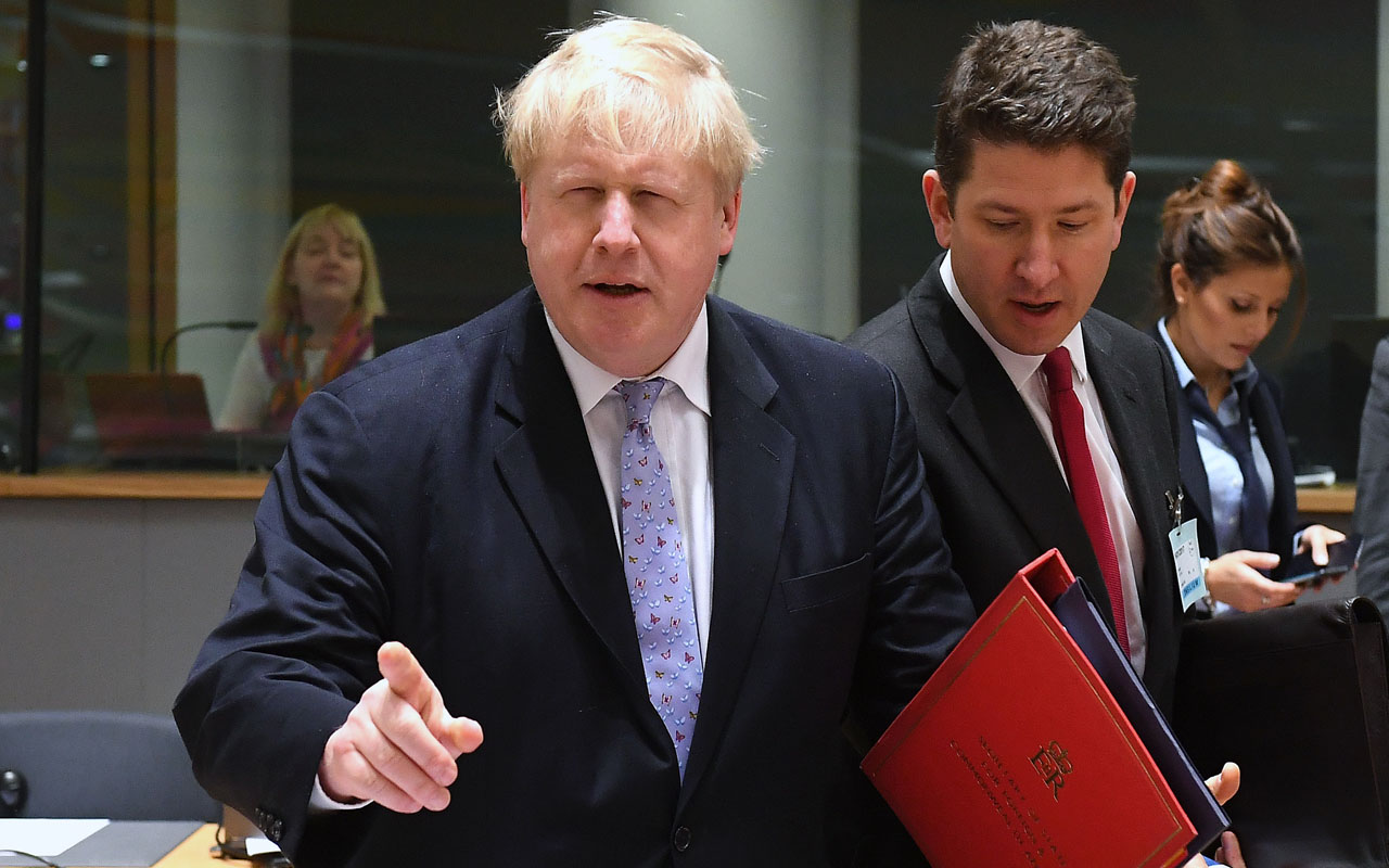 British foreign minister Boris Johnson  / AFP PHOTO / EMMANUEL DUNAND