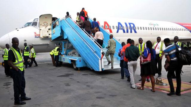 Dana Air  to launch Imo Air. Above Dana Air Passengers