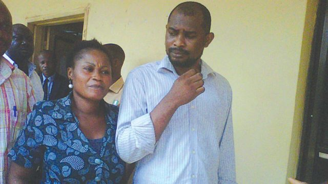 The suspects, Omuha and his wife, Titilayo
