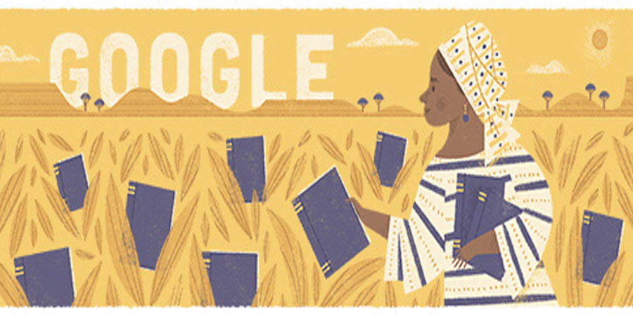 A Google Doodle dedicated to the celebration Flora Nwapa's 86th posthumous birthday. Nwapa was born on  January 13, 1931. She died on October 16, 1993. PHOTO: GOOGLE