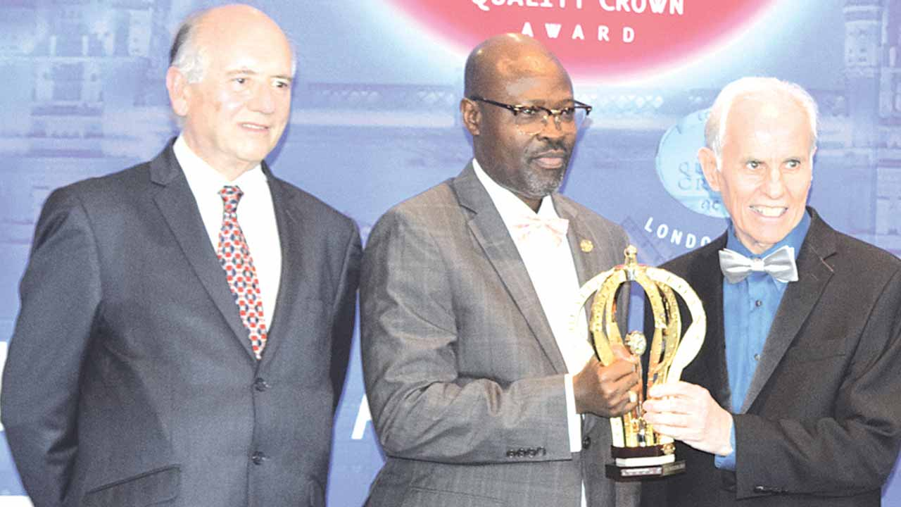 Scientific Director of BID, Alfonso C. Casal; Managing Director of GEMS Communications Limited, Atilola Odudare and Mr. Jose E. Prieto, President and CEO of BID at the BID International Quality Crown Award in London recently where GEMS Communications won the BID Award.