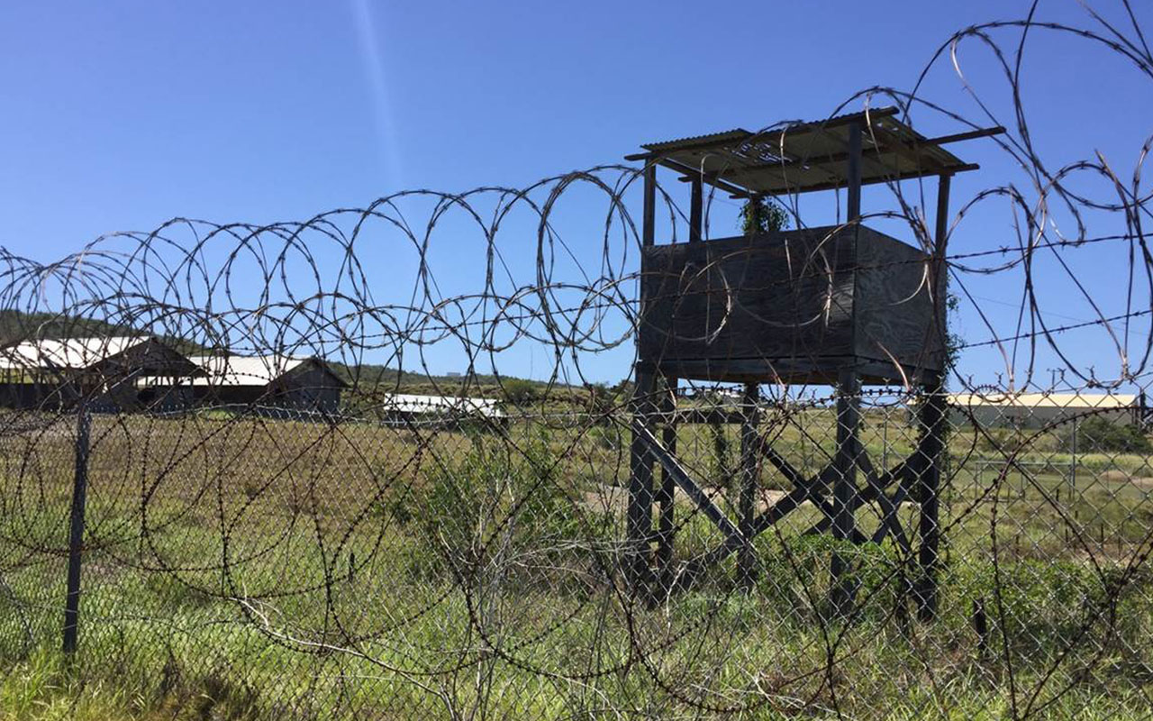 "(FILES) This file photo taken on March 10, 2016 shows the US military's Camp X-Ray at Guantanamo Bay Naval base in Guantanamo Bay, Cuba. US President Barack Obama delivered an angry parting shot at Congress on January 19, 2017, berating Republicans for blocking his efforts to close the prison facility at Guantanamo Bay. The facility ""never should have been opened in the first place"" Obama said in a terse two page letter. ""There is simply no justification beyond politics for the Congress' insistence on keeping the facility open."" / AFP PHOTO / Thomas WATKINS"