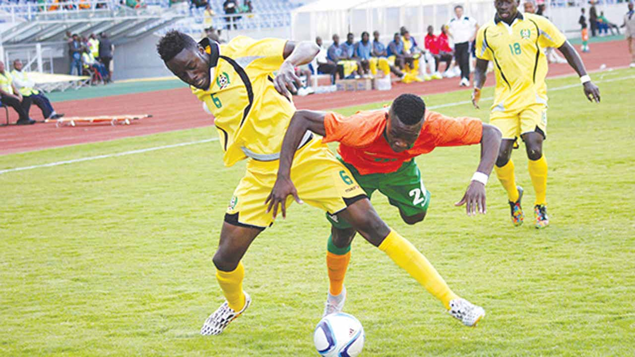 Guinea Bissau against Zambia in their AFCON 2017 qualifier. They will face host Gabon in the opening match today. Photo: www.dailymail.co.zm