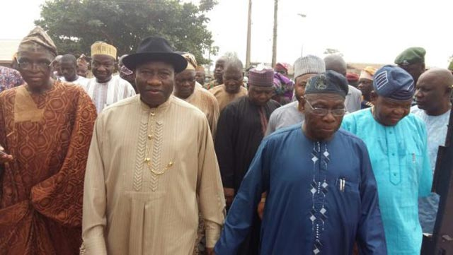 Jonathan arrived at Obasanjo hometown at 11.58 a.m., in company of his former minister of Special Duties, Alhaji Kabiru Turaki, and other close aides.