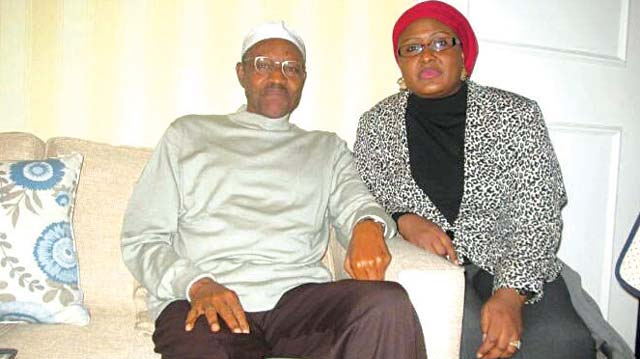A photograph of President Muhammadu Buhari and his wife, Aisha in circulation yesterday.