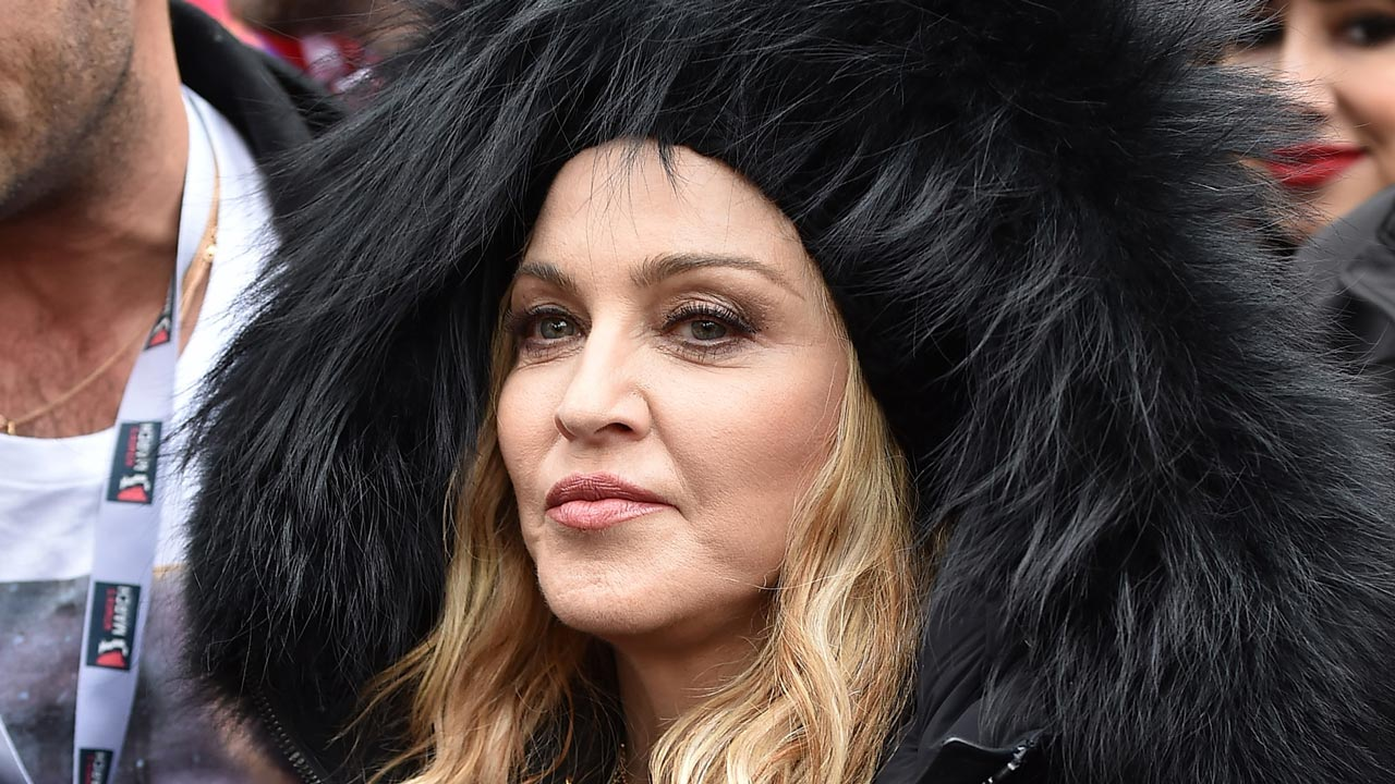 Madonna attends the Women's March on Washington on January 21, 2017 in Washington, DC. Theo Wargo/Getty Images/AFP Theo Wargo / GETTY IMAGES NORTH AMERICA / AFP
