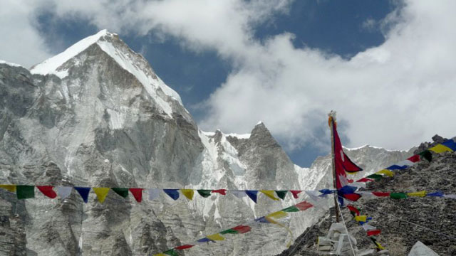 Mount Everest officially stands at 8,848 metres (29,029 feet) above sea level (AFP Photo/)