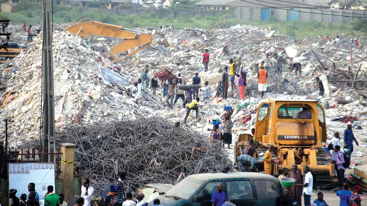 The demolished market