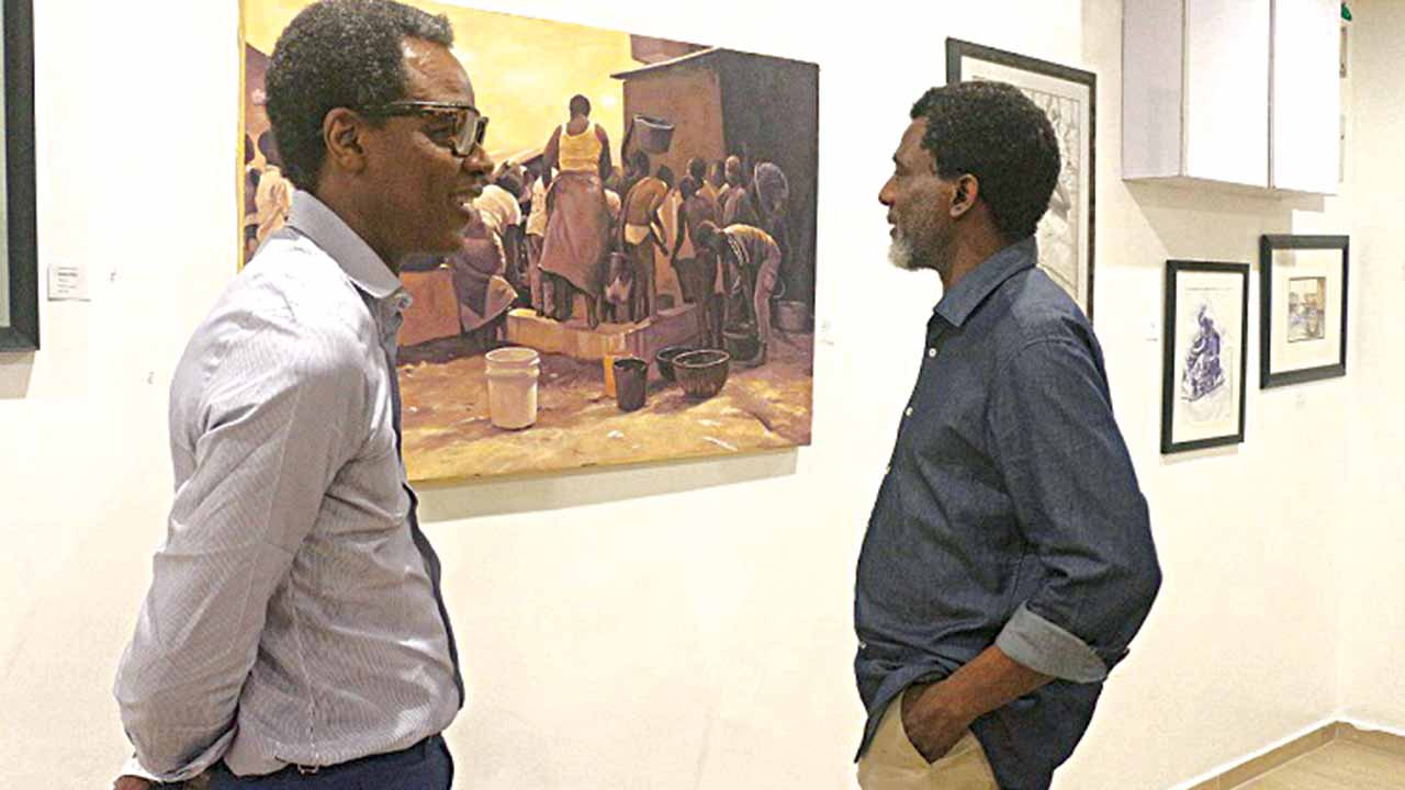 Nero Asebuwa and Olu Ajayi at the show… in Lagos