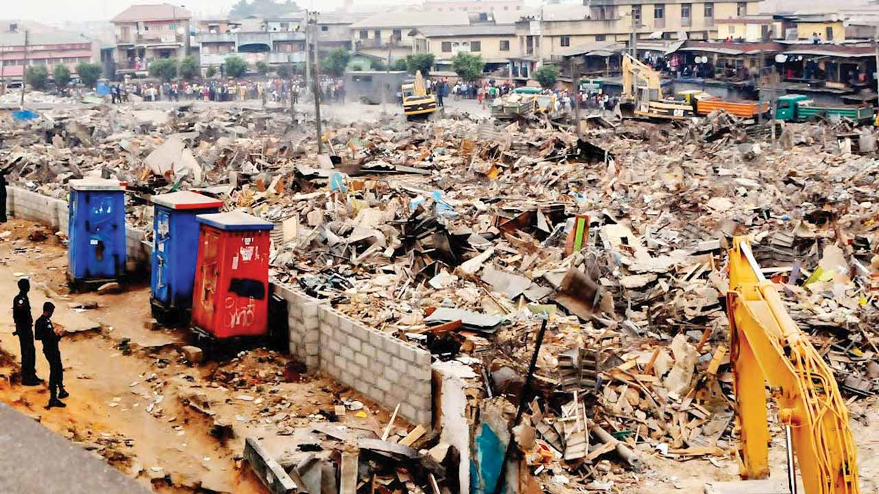 The affected area of Oshodi