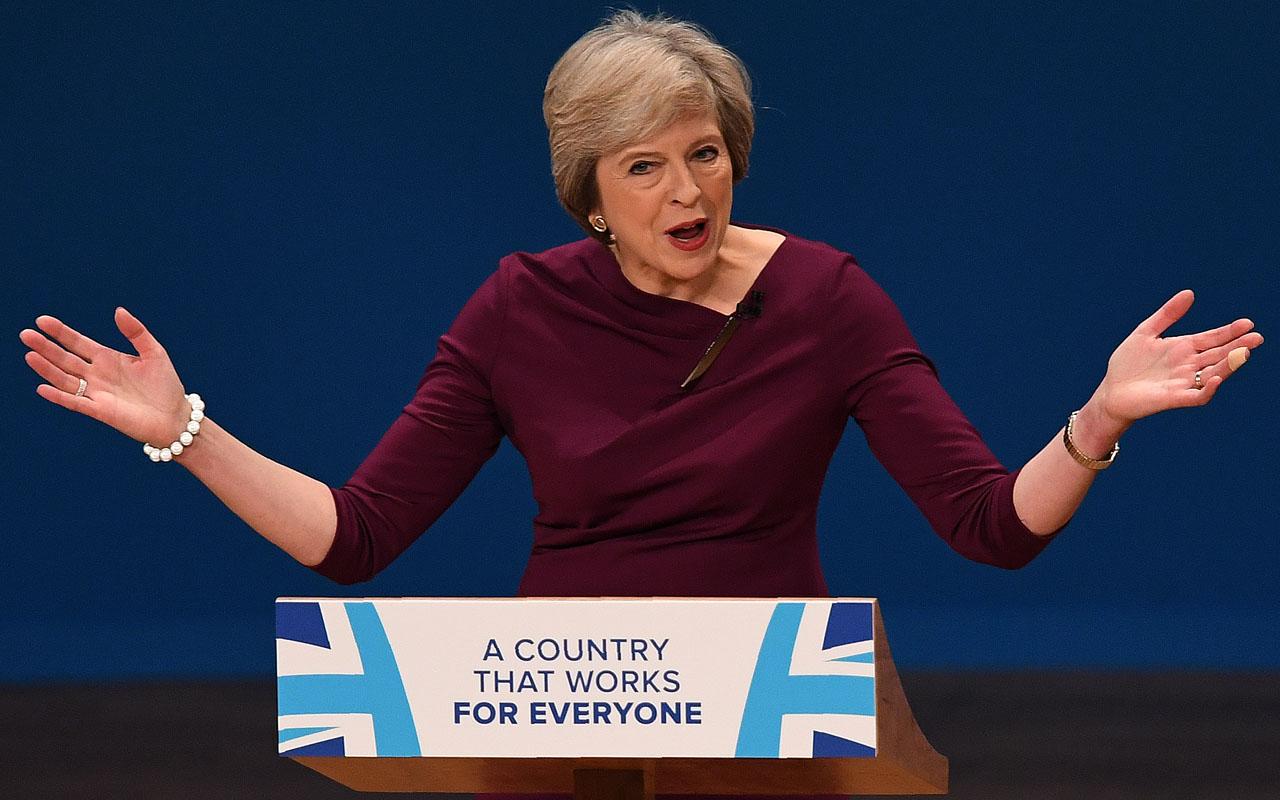 British Prime Minister Theresa May  / AFP PHOTO / PAUL ELLIS