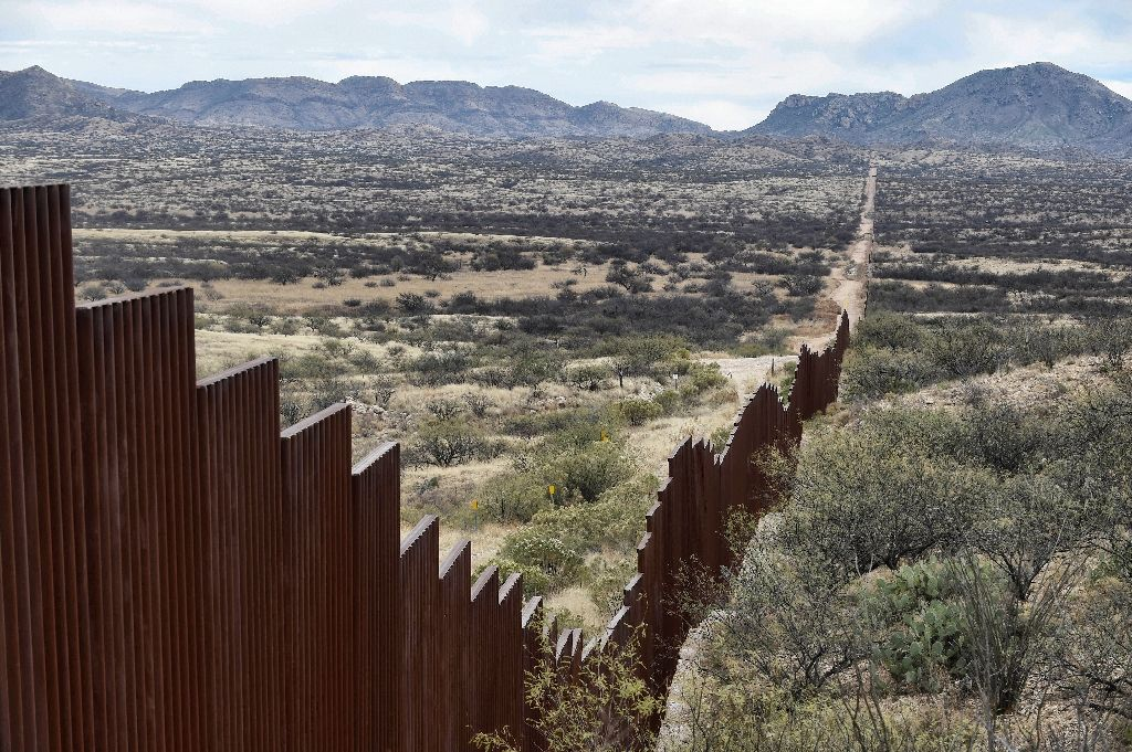 US President Donald Trump launched his election campaign with a promise to build a wall along America's long -- and porous -- southern border with Mexico. PHOTO: AFP Photo/ALFREDO ESTRELLA