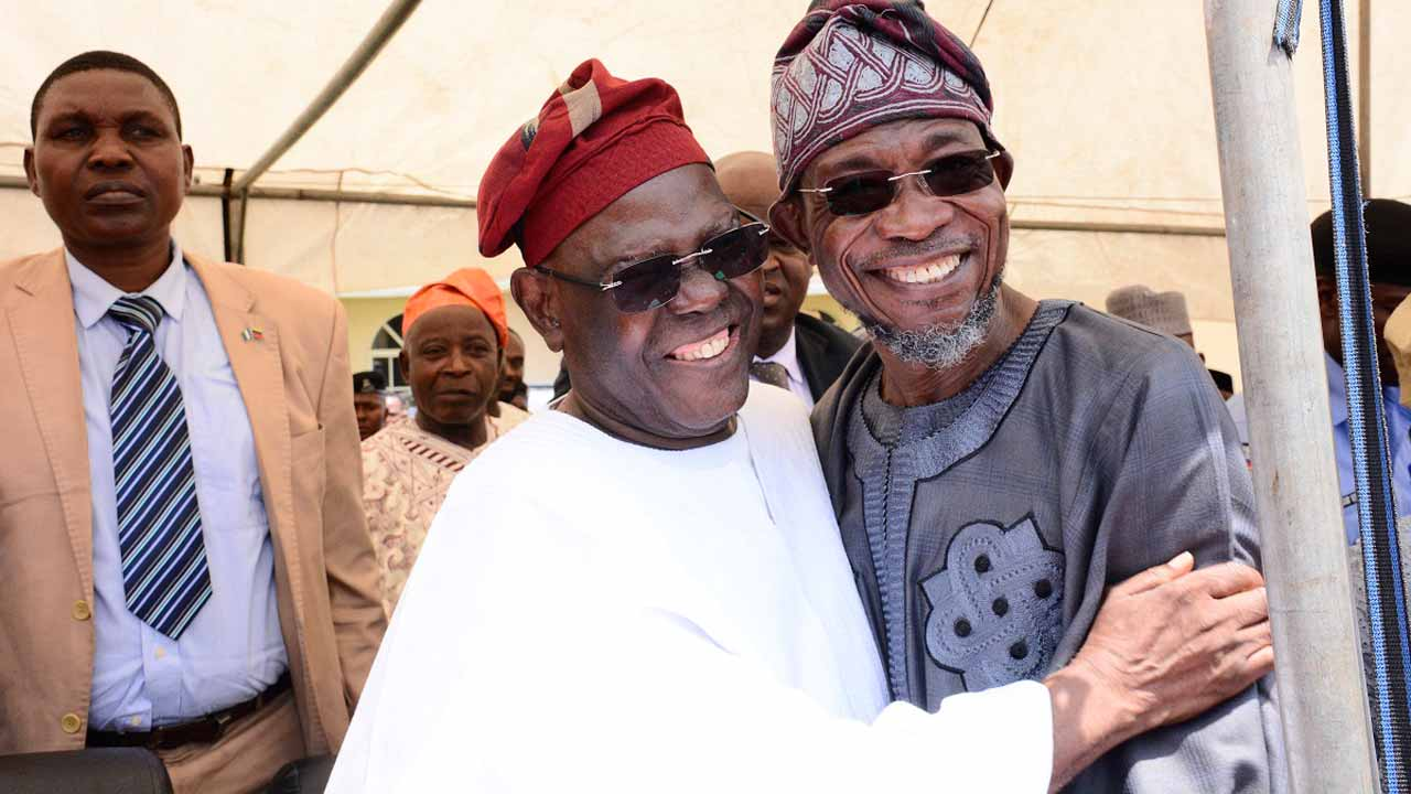 Chief Bisi Akande and Governor of the State of Osun, Ogbeni Rauf Aregbesola