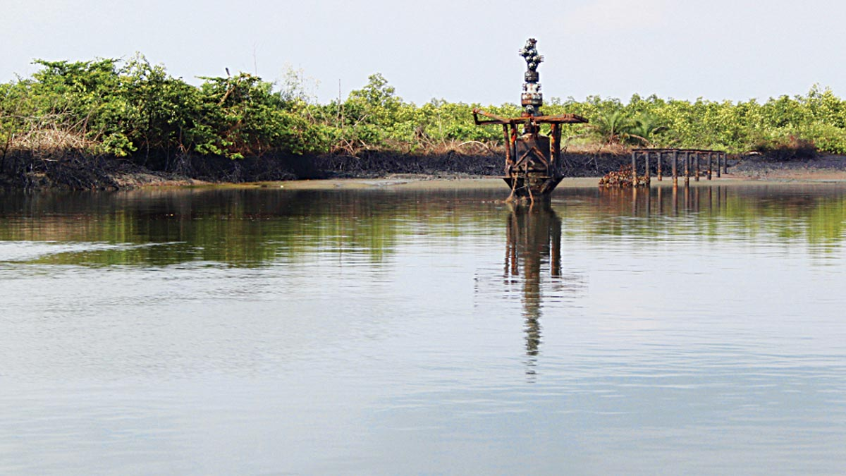 Bodo creeks oil well, is one of the abandoned oil wells in Ogoniland                                          (Rivers State, Nigeria) that were inspected by the UNEP environmental assessment team in 2010